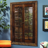 Style Selections 23-in to 25-in W x 24-in L Colonial Mahogany Wood Interior Shutter