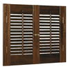 Style Selections 23-in to 25-in W x 28-in L Colonial Mahogany Wood Interior Shutter