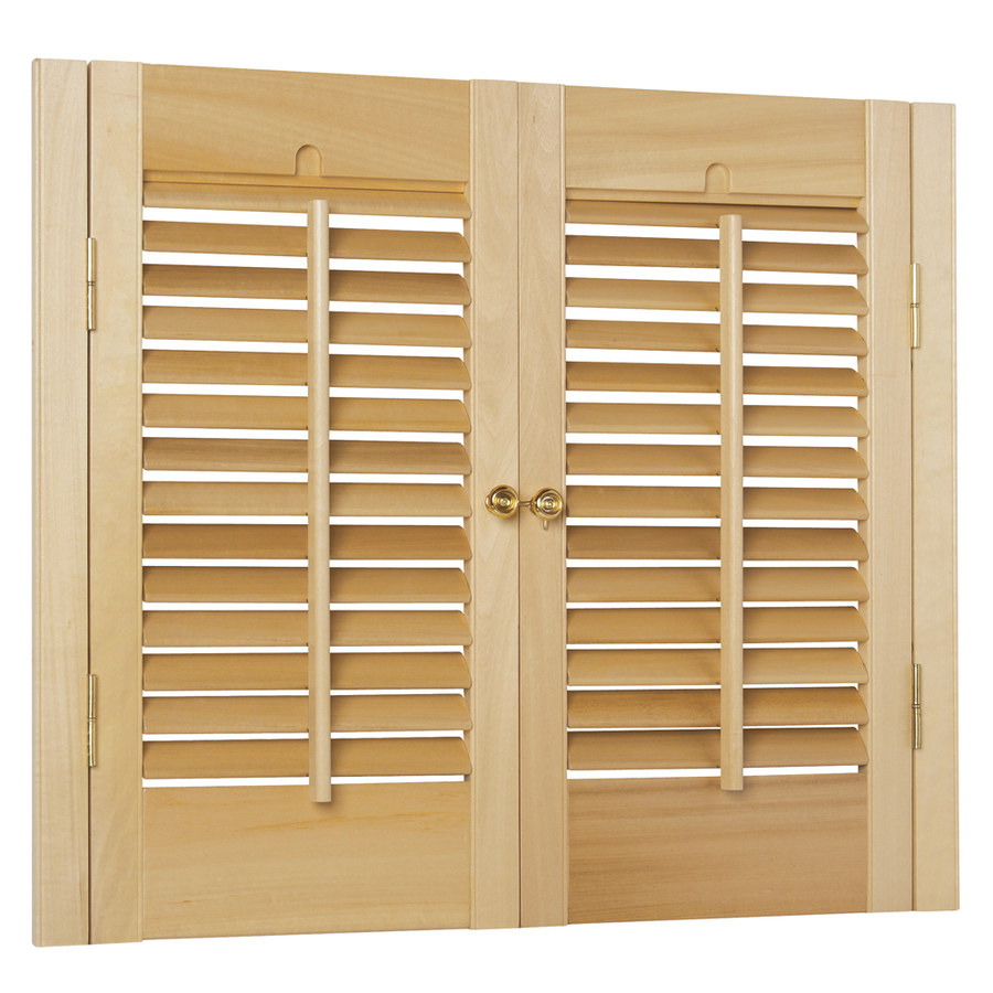 Plantation Shutters At Lowes Custom Size Now By Levolor In White Faux Wood Room Darkening