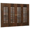 Style Selections 27-in to 29-in W x 20-in L Colonial Mahogany Wood Interior Shutter