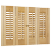 Style Selections 27-in to 29-in W x 20-in L Colonial Golden Oak Wood Interior Shutter