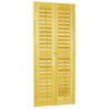 allen + roth 35-in-37-in W 54-in L Plantation Golden Oak Wood Interior Shutter