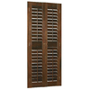 Style Selections 35-in to 37-in W x 72-in L Plantation Mahogany Wood Interior Shutter