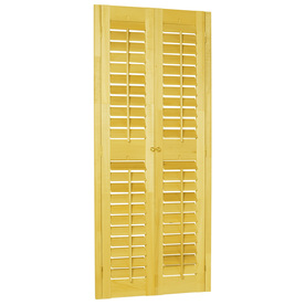 Style Selections 35-in to 37-in W x 72-in L Plantation Golden Oak Wood Interior Shutter