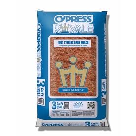 3-cu ft Dark Brown Shredded Cypress Mulch