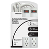 Project Source 2-Pack 6-Outlet Power Strips with Built-In Circuit Breaker