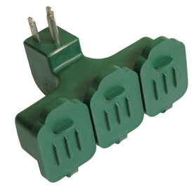 Utilitech Single-to-Triple Green 3-Wire Grounding Adapter