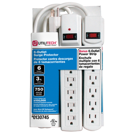 Utilitech 12-Outlet General Use Surge Protector (Auto-Off Safety)