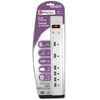Utilitech 6-Outlet Home Entertainment Surge Protector (Auto-Off Safety)