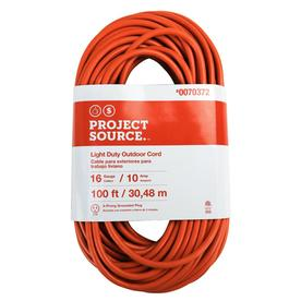 Basic Connections 100 Ft 10 Amp 16 Gauge Orange Outdoor