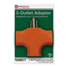 Utilitech Single-to-Triple Orange 3-Wire Grounding Adapter