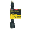 Utilitech 15-Amp 3-Wire Grounding Single-to-Triple Yellow Adapter