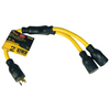 Utilitech 20-Amp 3-Wire Grounding Single-to-Triple Yellow Adapter