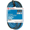 Utilitech 50-ft 15-Amp 12/3 Blue/Black Outdoor Extension Cord