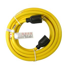 Utilitech 25-ft 30 110-Volt 10-Gauge Yellow Outdoor Extension Cord