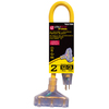 Utilitech 2-ft 15-Volt 3-Outlet 12-Gauge Yellow Outdoor Extension Cord