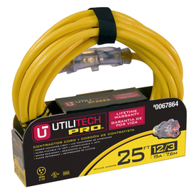 Utilitech 25-ft  12-Gauge Outdoor Extension Cord
