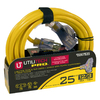 Utilitech 25-ft 3-Outlet 12-Gauge Outdoor Extension Cord