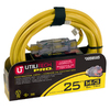 Utilitech 25-ft 15-Amp 14/3 Yellow Outdoor Extension Cord