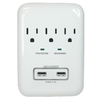 PRIME 3-Outlet 900 Joules General Use Surge Protector with Usb Charger Usb Charge (Auto-Off Safety)