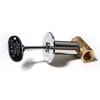 Blue Flame Polished Chrome 1/2-in Straight Gas Valve Kit
