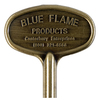 Blue Flame Universal 3-in Antique Brass Gas Valve Key