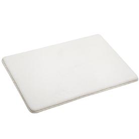 allen + roth 17-in x 24-in White Microfiber Bath Mat