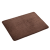 allen + roth 17-in x 24-in Dark Chocolate Microfiber Memory Foam Bath Mat