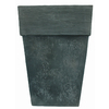 22.4-in H x 16-in W x 16-in D Oxidized Black Resin Planter