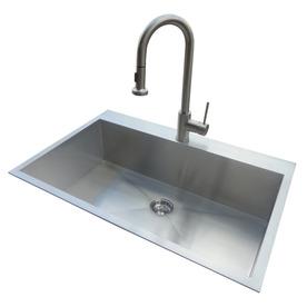 Commercial Undermount Sink : ... Steel Drop-In or Undermount 1-Hole Commercial/Residential Kitchen Sink
