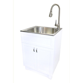 Presenza Deluxe Utility Sink And Storage Cabinet : Home Plumbing Utility Sinks & Faucets Utility Sinks
