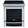Electrolux 30-in Smooth Surface 5-Element 4.2 cu ft/1.4 cu ft Self-Cleaning Convection Electric Range (Stainless)