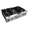 Electrolux Icon 36-in 6-Burner Gas Cooktop (Stainless)