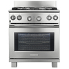 Electrolux ICON 30-in 4.2 cu ft Self-Cleaning Convection Dual Fuel Range (Stainless Steel)
