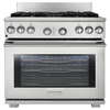Electrolux ICON 36-in 6-Burner Freestanding 6.4 cu ft Convection Gas Range (Stainless Steel)