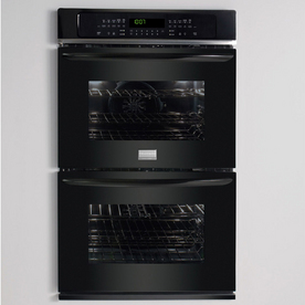 Frigidaire Gallery 30-in Self-Cleaning Convection Double Electric Wall Oven (Black)
