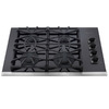 Frigidaire Gallery 30-in 4-Burner Gas Cooktop (Black)