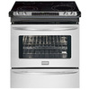 Frigidaire Gallery 30-in Smooth Surface 5-Element 4.2 cu ft Self-Cleaning Slide-In Convection Electric Range (Stainless)