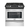 Frigidaire Gallery 30-in 4.2 cu ft Self-Cleaning Slide-In Convection Gas Range (Stainless)