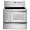 Frigidaire Professional 40-in Smooth Surface 6-Element 3.7 cu ft/1.7 cu ft Self-Cleaning Convection Electric Range (Stainless Steel)