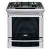 Electrolux 30-in Deep Recessed 4.2 cu ft Self-Cleaning Convection Single Oven Dual Fuel Range (Stainless Steel)