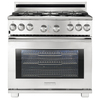 Electrolux Icon 36-in 6-Burner Freestanding 6.4 cu ft Self-Cleaning Convection Gas Range (Stainless Steel)