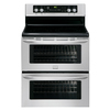 Frigidaire Gallery 30-in Smooth Surface 5-Element 3.5-cu ft / 3.5-cu ft Double Oven Single-Fan European Element Electric Range (Stainless Steel)