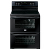 Frigidaire Gallery 30-in Smooth Surface 5-Element 3.5 cu ft/3.5 cu ft Self-Cleaning Convection Electric Range (Black)