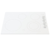 Frigidaire Gallery 30-in Smooth Surface Electric Cooktop (White)