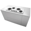 Frigidaire Electric Cooktop (White) (Common: 36-in; Actual 36-in)