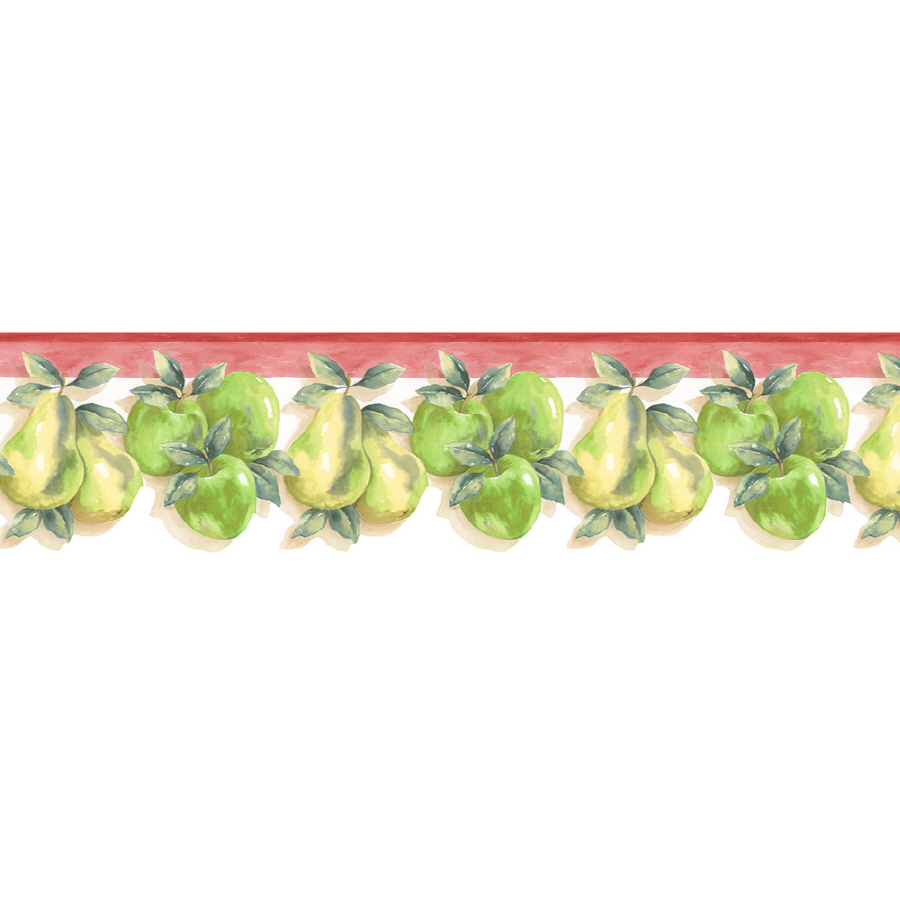 Kitchen Style Apple And Pear Prepasted Wallpaper Border At Lowes Com