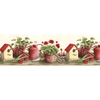 Norwall 9.5-in Red Prepasted Wallpaper Border