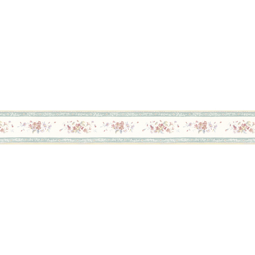 Norwall 41 4 Floral Prints White Wedding Prepasted Wallpaper Border