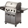Huntington Rebel Cast Aluminum 4-Burner (40,000-BTU) Liquid Propane Gas Grill with Side Burner